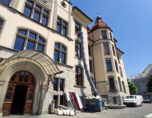 renovation schulhaus central, reinach